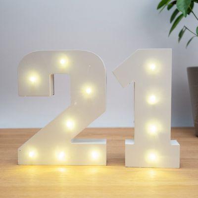Geschenk zum Einzug - Beleuchtete Holz-Zahlen