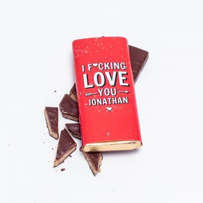 Valentinstag Geschenke - Personalisierbare Schokolade I F[...]ing Love You