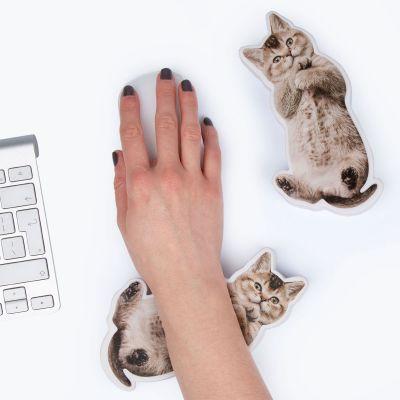 Spass im Büro - Handballenauflage und Stressspielzeug Hund bzw. Katze