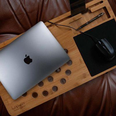 Nikolausgeschenke - Laptop Unterlage aus Holz