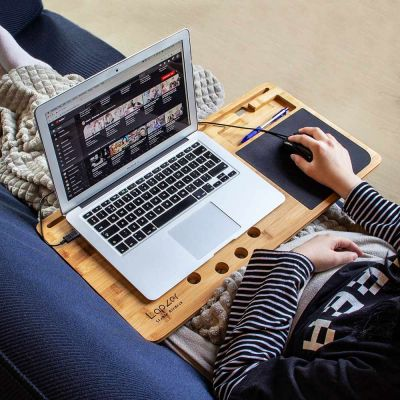 Geburtstagsgeschenk zum 50. - Laptop Unterlage aus Holz