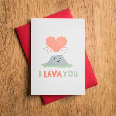Valentinstag Geschenke für Frauen - Valentinstagskarte I Lava You