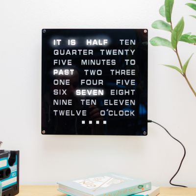 Weihnachtsgeschenke für Papa - LED Word Clock Maxi