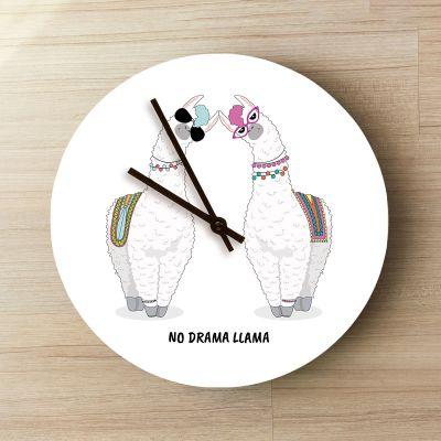 Personalisierte Uhren - Personalisierbare Lama Wanduhr