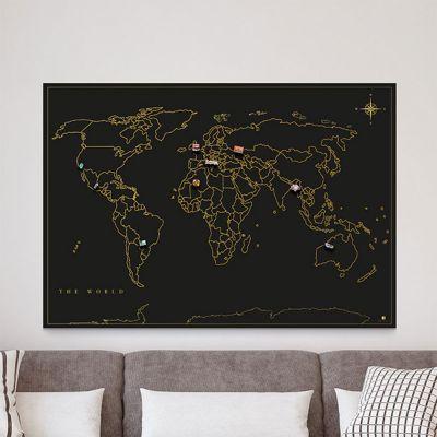 Wohnen - Magnet-Sammel Weltkarte