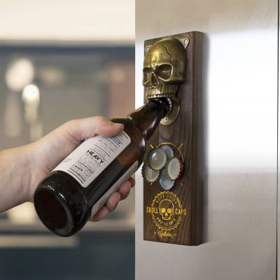 Bar Accessoires - Magnetischer Totenschädel Flaschenöffner