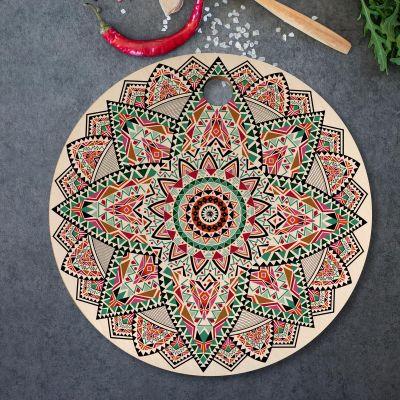 Exklusive Geschenke aus Holz - Mandala Schneidebrett