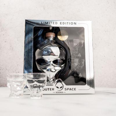 Essen & Trinken - Outerspace Vodka Geschenkbox mit 2 Gläsern