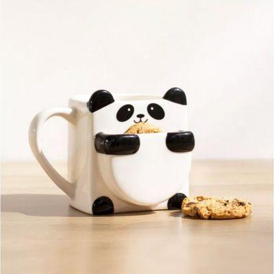 Kleine Geschenke - Panda Tasse mit Keks-Fach