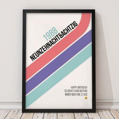 Exklusive Poster - Personalisierbares Poster Geburtstag