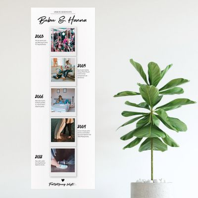 Hochzeitstag Geschenk - Personalisierbares Foto-Poster Unsere Geschichte