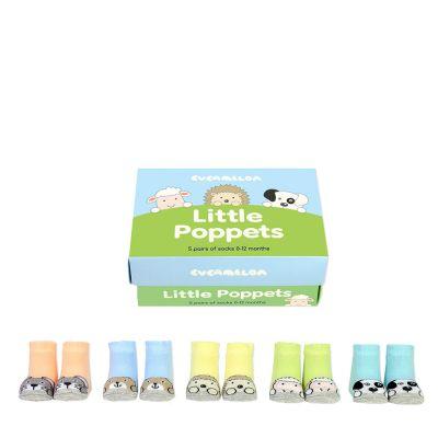 Kleidung & Accessoires - Tierisch süße Baby-Socken 5er-Set
