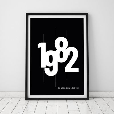 Geburtstagsgeschenk zum 50. - Personalisierbares Poster mit Geburtsjahr