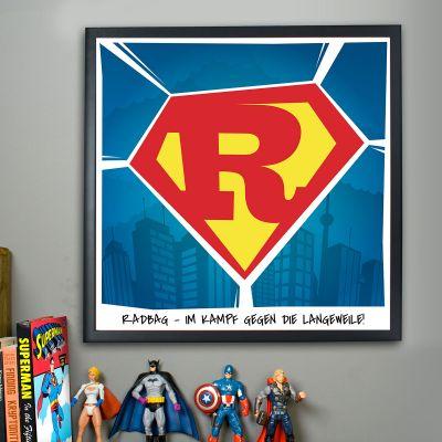 Valentinstag Geschenke für Männer - Superman - Personalisierbares Poster