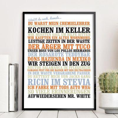 Hochzeitstag Geschenk - Weißt du noch, damals... - Personalisiertes Poster