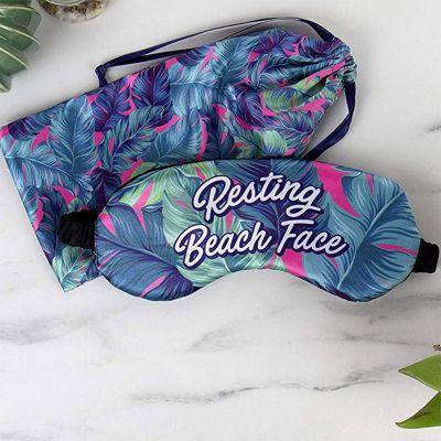 Kleidung & Accessoires - Strand Schlafmaske mit Beutel