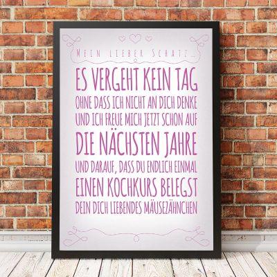 Romantische Geschenke - Personalisierbares Poster für deine Lieben