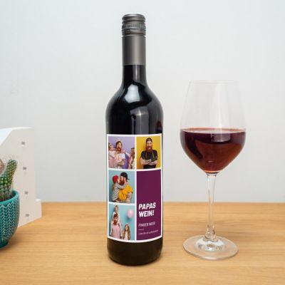 Geschenkideen - Personalisierbarer Wein mit Bildern und Text