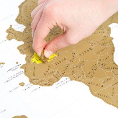 Geburtstagsgeschenk zum 50. - Rubbel-Weltkarte Scratch Map
