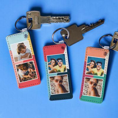 Fotogeschenke - Personalisierbarer Schlüsselanhänger mit 2 Bildern