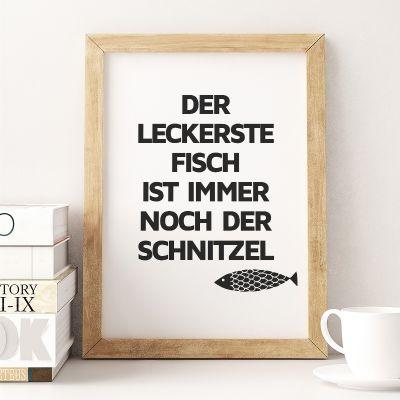 Exklusive Poster - Schnitzel-Fisch Poster