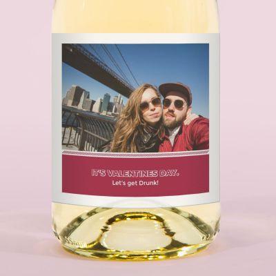 Valentinstag Geschenke für Frauen - Secco mit Bild und 2 Zeilen