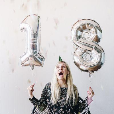Geburtstagsgeschenk für Freund - Riesen Zahlen-Luftballons