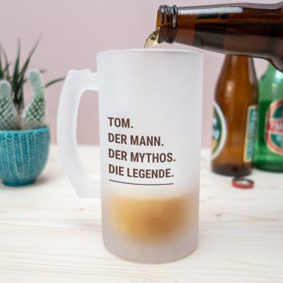 Geschenke mit Namen - Personalisierbarer Bierkrug Modern