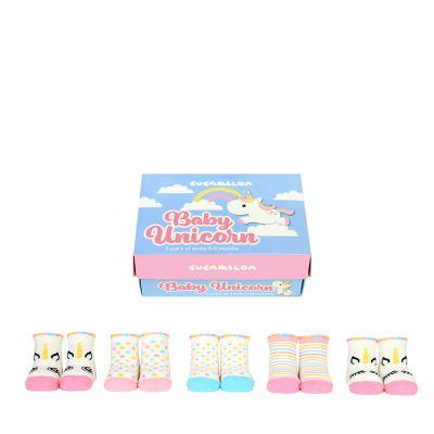 Kleidung & Accessoires - Einhorn Baby-Socken 5er-Set