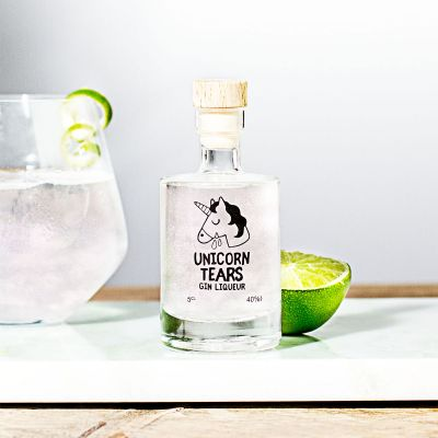 Wichtelgeschenke - Mini Einhorn-Tränen Likör mit Gin