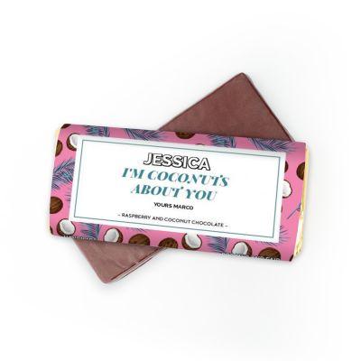 Valentinstag Geschenke für Männer - Schokolade mit 4 Zeilen