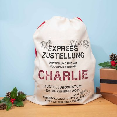 Weihnachtsgeschenke - Weihnachtssack mit 9 Zeilen