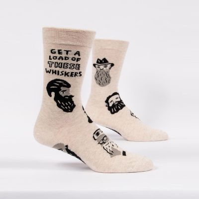 Kleidung & Accessoires - Get A Load Of These Whiskers Herrensocken