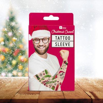 Wichtelgeschenke - Ärmel mit Weihnachts-Tattoos