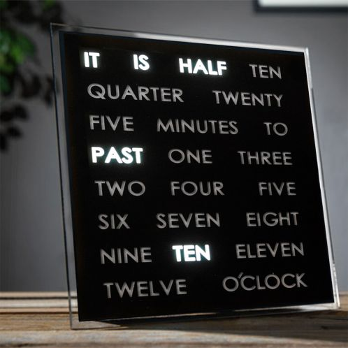 Geschenkideen - LED Word Clocks