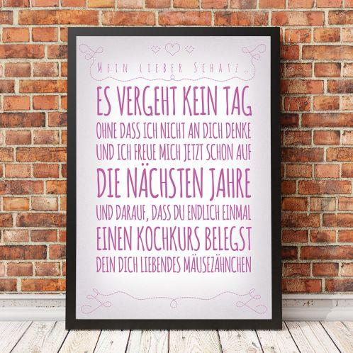 Romantik - Personalisierbares Poster