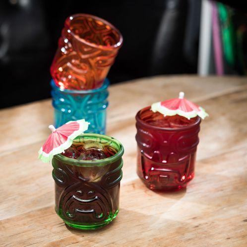 Geburtstagsgeschenke - Farbige Tiki Cocktailgläser 4er Set