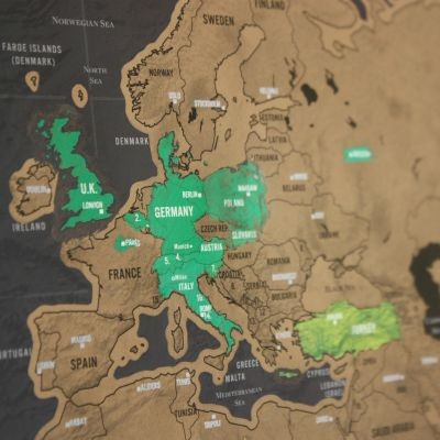 Rubbel-Weltkarte Scratch Map Deluxe