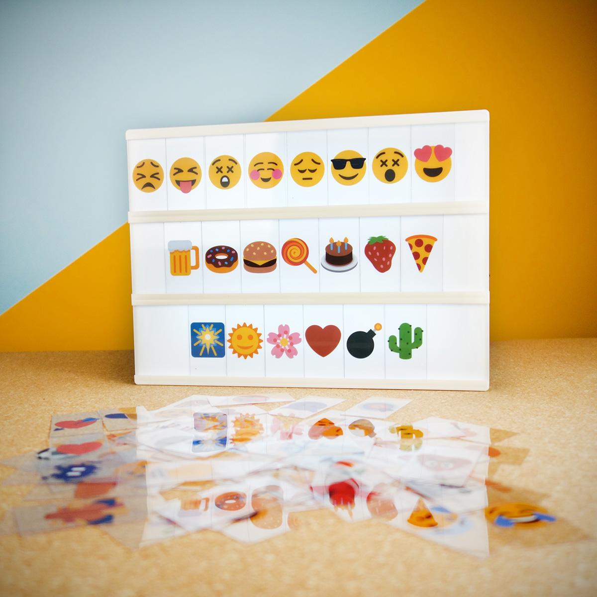 Image of Emoji Set für Tischleuchte Kino Leuchtreklame