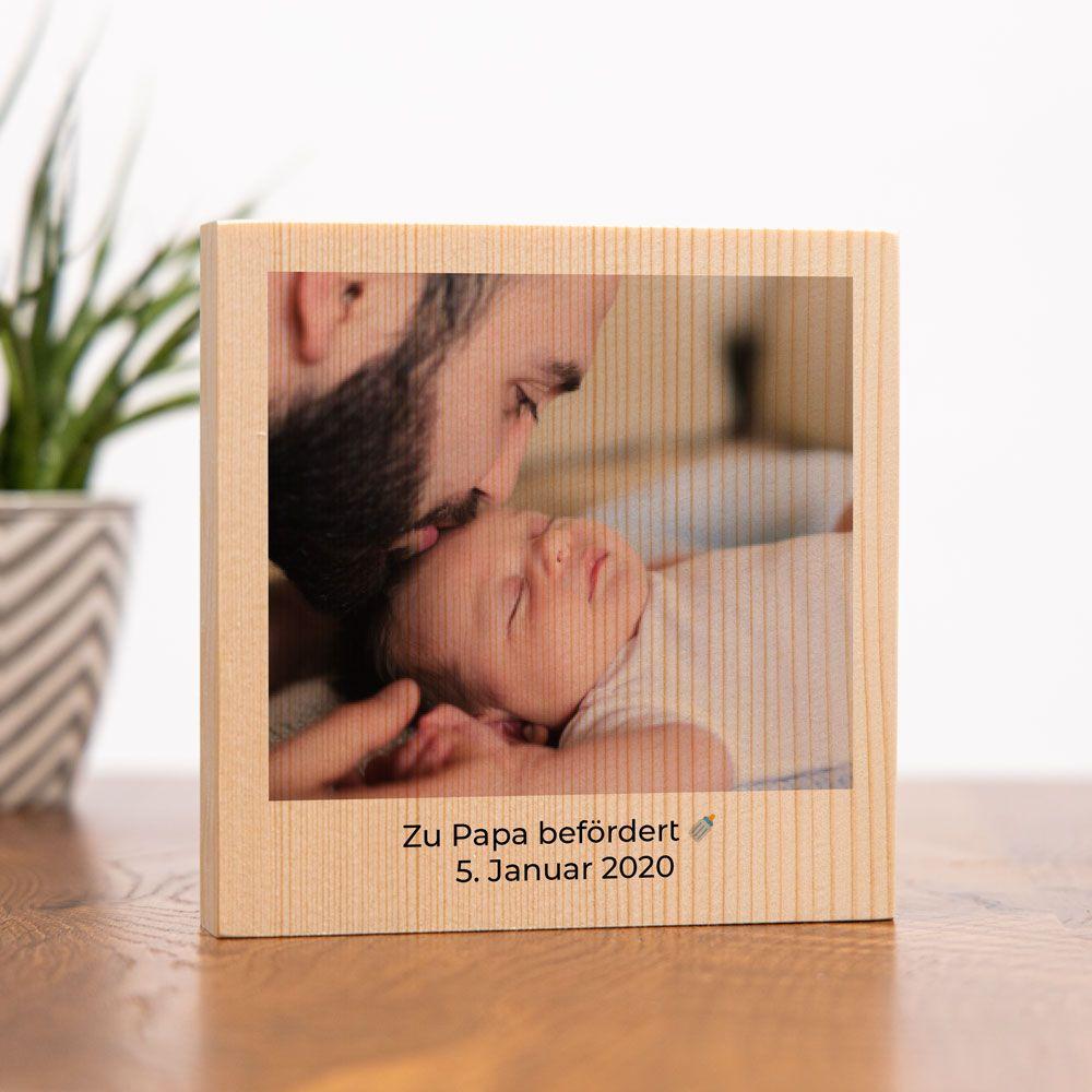 personalisierte geschenke zur geburt personalisierbares Holzdbild mit Foto