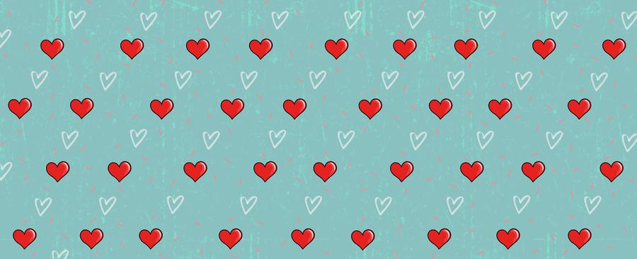 Geschenkpapier Multi-Gesicht (Face) mit Liebes-Hintergründen - GPLHLO/GPLHXT - Herzen