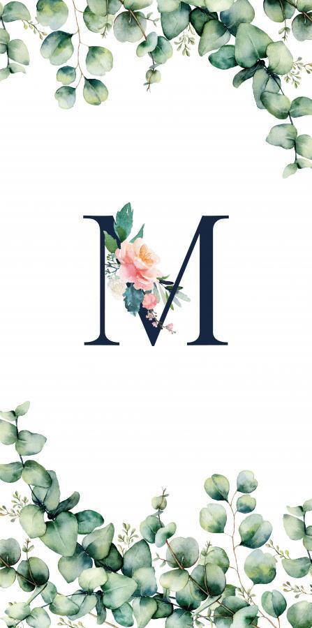 Handtuch mit Monogramm und Text (TOMOXT) - M
