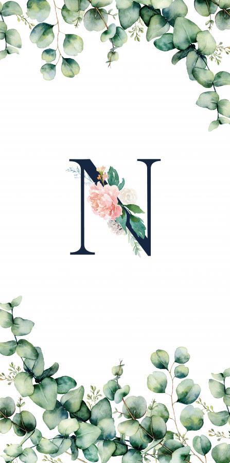 Handtuch mit Monogramm und Text (TOMOXT) - N