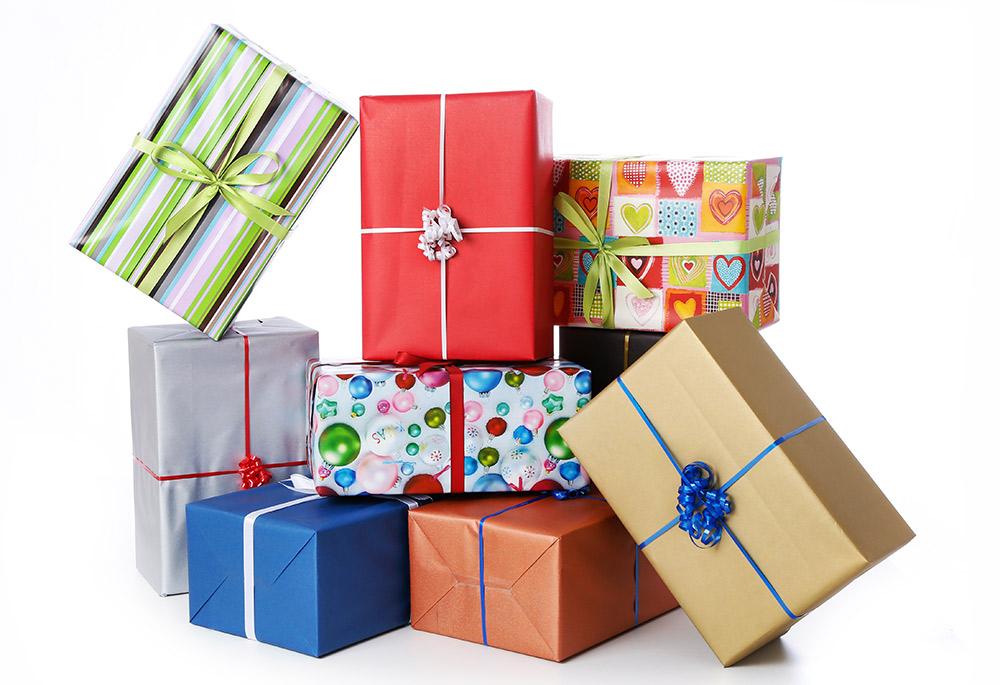 Geschenk als schatz verpacken